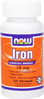 NOW Iron 18 mg - 120 Vegetarian Capsules