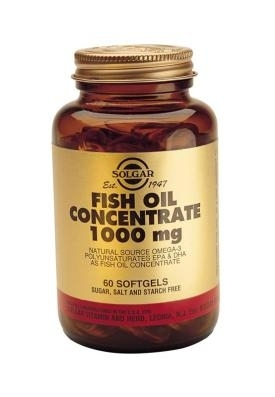 Fish Oil Concentrate 1000mg: 120 Softgels